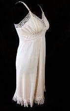 Carol Brent Pink Full Slip 34 Vintage 60s Lingerie Lace Nylon Accordian Pleats