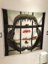 Jaws Classic Movie Soundtrack Poster Flag Banner Fabric Wall Tapestry 4 x 4 Feet