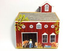 AMISH FOLK ART -  ACRYLIC ON WOOD COUNTRY LIFE IN OHIO BY HERRICK - 2