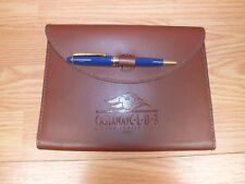Genuine Disney Cruise Line Castaway Club Brown Leather Writing Pen And Pad *Read