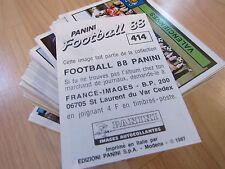 PANINI FOOTBALL 88 - 1988 - Stikers originaux  neufs