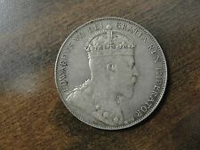 1907 Newfoundland Silver 50 Cent Coin