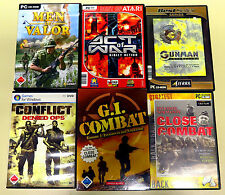 6 pc giochi collezione Conflict men of valor GI CLOSE COMBAT Gunman USK 18 Shooter