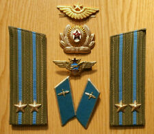 Soviet Russian epauletts of the lieutenant colonel,collar tabs of Air Force