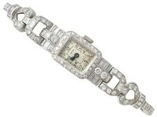 Vintage 3.35 t Diamond and Platinum Cocktail Watch by Cervin Circa 1940