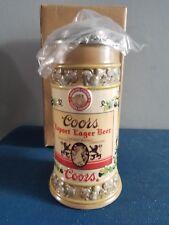 (L@K) Adolph Coors Lidded Beer Stein Label Series export Golden Colorado New