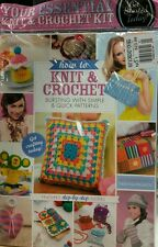 How to Knit & Crochet UK 6 Balls of Yarn, Needles & Hook #1 FREE PRIORITY SHIP