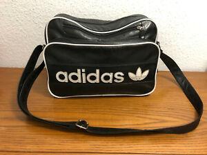 Adidas Vintage Airliner Tasche Umhängetasche schwarz