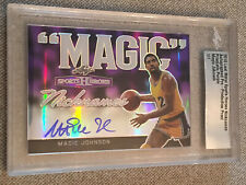 MAGIC JOHNSON 2018 Leaf Metal Sports Heroes Autograph Proof Slabbed #1/1 HOF