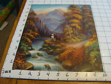 Vintage very clean and brigt print c. FAS: c. 1940's GOLDEN SUNSET
