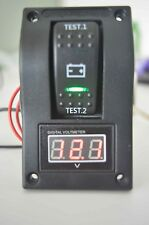 Boat Digital Battery Voltmeter Test Panel Rocker Switch On-Off-On PN-TV1-4 5-30V