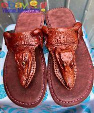 Men's Flip-flop- Genuine Crocodile Skin-100% Handmade