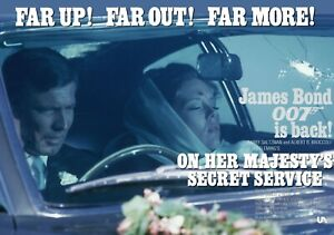 "On Her Majesty's Secret 1969 Service commercial quad poster D 30x40"" James Bond"