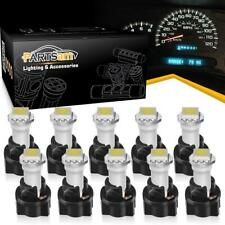 10 PC74 Twist Socket White T5 73 74 1-SMD 5050 LED Instrument Cluster Dash Light