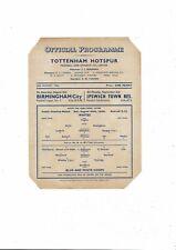 Tottenham Hotspur Whites v Blue & White Hoops Football Programme 1946/47