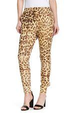 ONE TEASPOON Jackson Leather Pants Leopard Animal Print Natural SZ M $420 NEW
