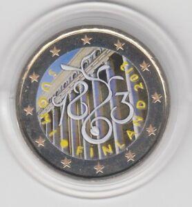 Finnland  2 €    Parlament    2013  coloriert  Farbmünze