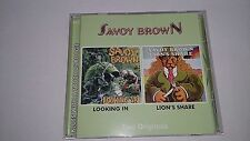 SAVOY BROWN - LOOKING IN + LION'S SHARE / 2 LP'S ON 1 CD / LIKE NEW