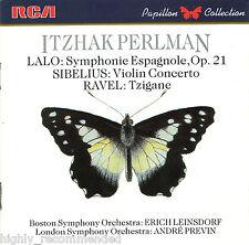 Itzhak Perlman: Lalo - Sibelius - Ravel (CD, 1987 RCA) Papillon Collection
