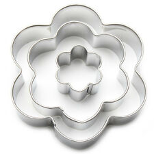 Cookie Cutter Set (3 Pcs) Flower Shapes Floral Hippy Cake Decorating Biscuits