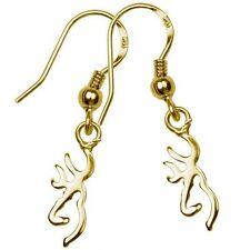 Browning Gold Dangle Drop Earrings, Buckmark Jewelry