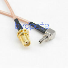 CRC9 male right angel 90 degree to SMA female RF Pigtail Coaxial RG316 Cable 6in