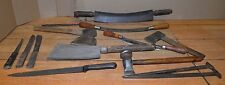 Antique buffalo skinning cleaver fleshing knives blacksmith stake knife tool lot
