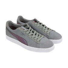 Puma Suede Classic X Staple Pigeon Mens Gray Suede Low Top Sneakers Shoes