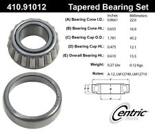 Wheel Bearing and Race Set-C-TEK Bearings Centric 410.91012E
