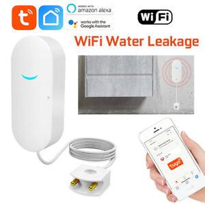 Smart Tuya WiFi Water Leak Sensor Security Leakage Overflow Alarm Home Detectors