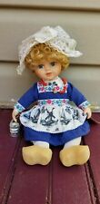 Handmade Holland Porcelain Milkmaid Doll by Waterland - Traditional Costume