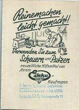 Reklame Edeka-Kaufmann Schmidt Hedwigstraße Leipzig