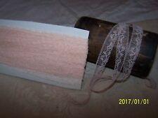 ANCIENNE DENTELLE TRES FINE . COULEUR saumon. ART DECO. N°46