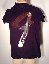 Fender F Guitars Black T-Shirt Mens Size Small