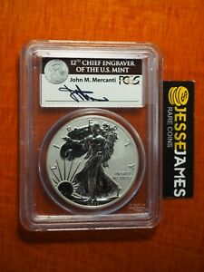 2011 P REVERSE PROOF SILVER EAGLE PCGS PR69 JOHN MERCANTI FROM 25TH ANN SET