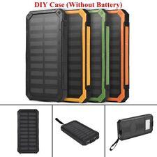 50000mAh Solar Power Bank DIY Case Dual USB Battery Charger w/ LED Flashlight CL