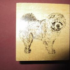 STAMP GALLERY Chow Chow Dog Wood Mounted Rubber Stamp Canine Breed