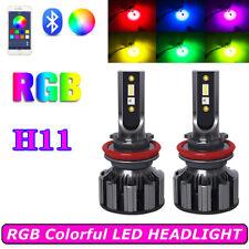 RGB LED H11 RGB Headlight Kit APP Bluetooth Control Fog Lights Bulbs Lamp Module