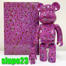 Medicom 400% + 100% Bearbrick ~ Keith Haring #02 Version Be@rbrick