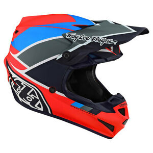 2020 Troy Lee Designs SE4 Beta Orange Navy Adult Large  MX Helmet TLD Motocross