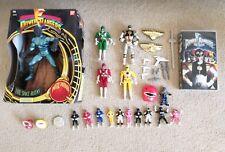 Power Rangers 1993 job lot bundle (figures, movie VHS)