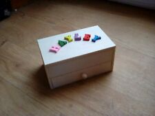 PERSONALISED TO ORDER SMALL WOODEN JEWELLERY BOX 12x7.5x5.5cm any name see pics