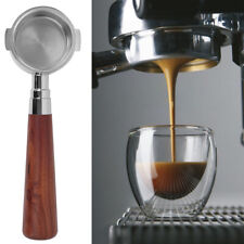 51/54/58mm Stainless Steel Portafilter Espressos Coffee Make Wooden Handle Filte