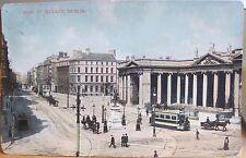 Irish Postcard Bank Of Ireland Dublin Ireland Signal Series Bovril Tram 1911