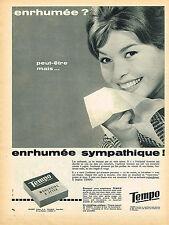 PUBLICITE ADVERTISING 035  1960  TEMPO  2    mouchoirs à jeter