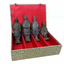 Terracotta Warriors - Set of 4 Chinese Figures - 17cm Tall - Gift Box