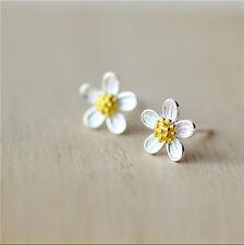 925 Silver Cross/Umbrella/Black Leaves Post Stud Earrings Women Wedding Jewelry