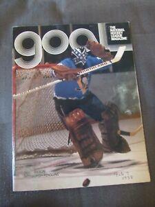 1977-78 Colorado Rockies Hockey Program vs. Pittsburgh Penguins Dunc Wilson
