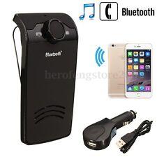 Wireless Bluetooth Hands Free Car Kit Speakerphone Speaker Phone Sun Visor Clip
