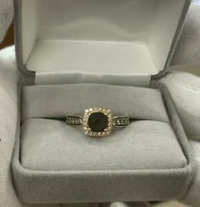 14k Rose Gold Brown Quartz & Diamond Ring Le Vian Sz. 7 levian